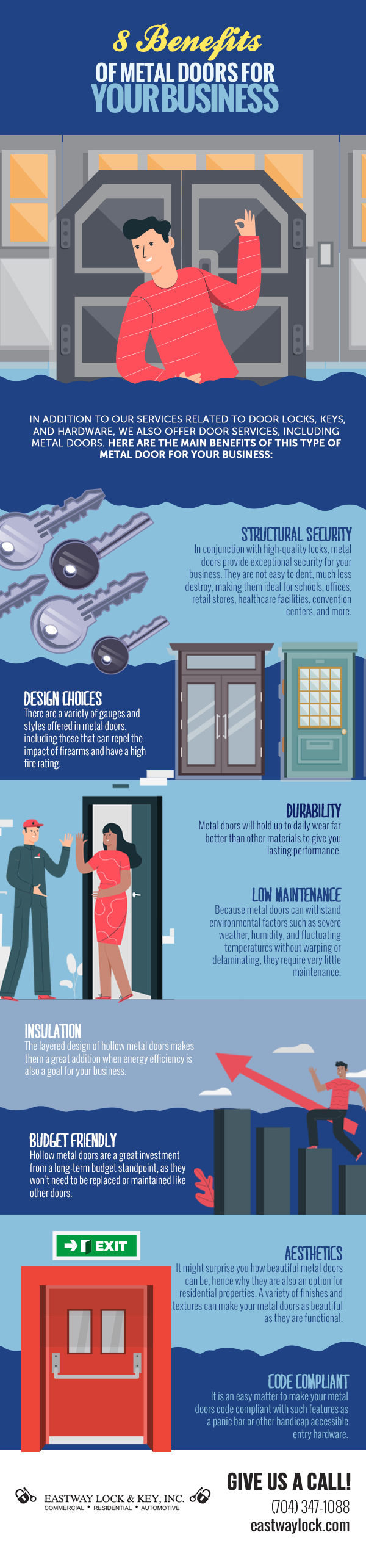 8 benifits of metal doors for your business